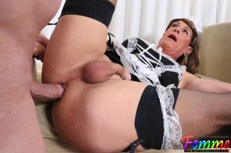 Jeanne - Mature Sissy French Maid Gets Fucked  [SD] ( 2019 / 627.59 Mb)